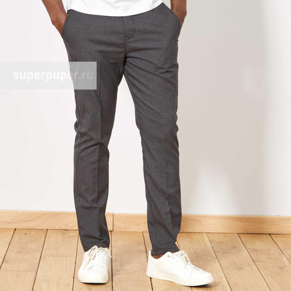b2e3ff587e6 Kiabi Взрослым 18 • Узкие брюки-чинос - серый WL602 • Совместные ...