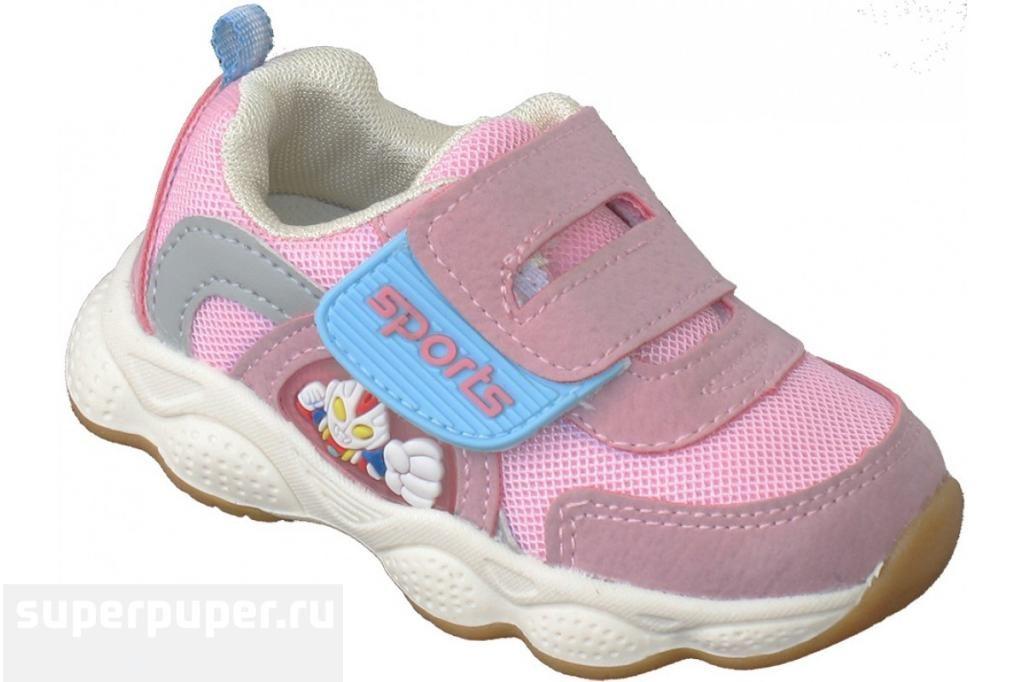 21547188 Детская обувь 101 • Кроссовки мигающие «Sport» розовые • Совместные ...