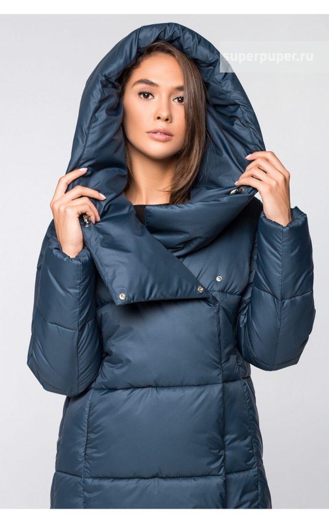 655c5ea932e1 Выкуп состоялся: Зимняя женская куртка укороченная KTL-316 (757 майоликовый  синий)
