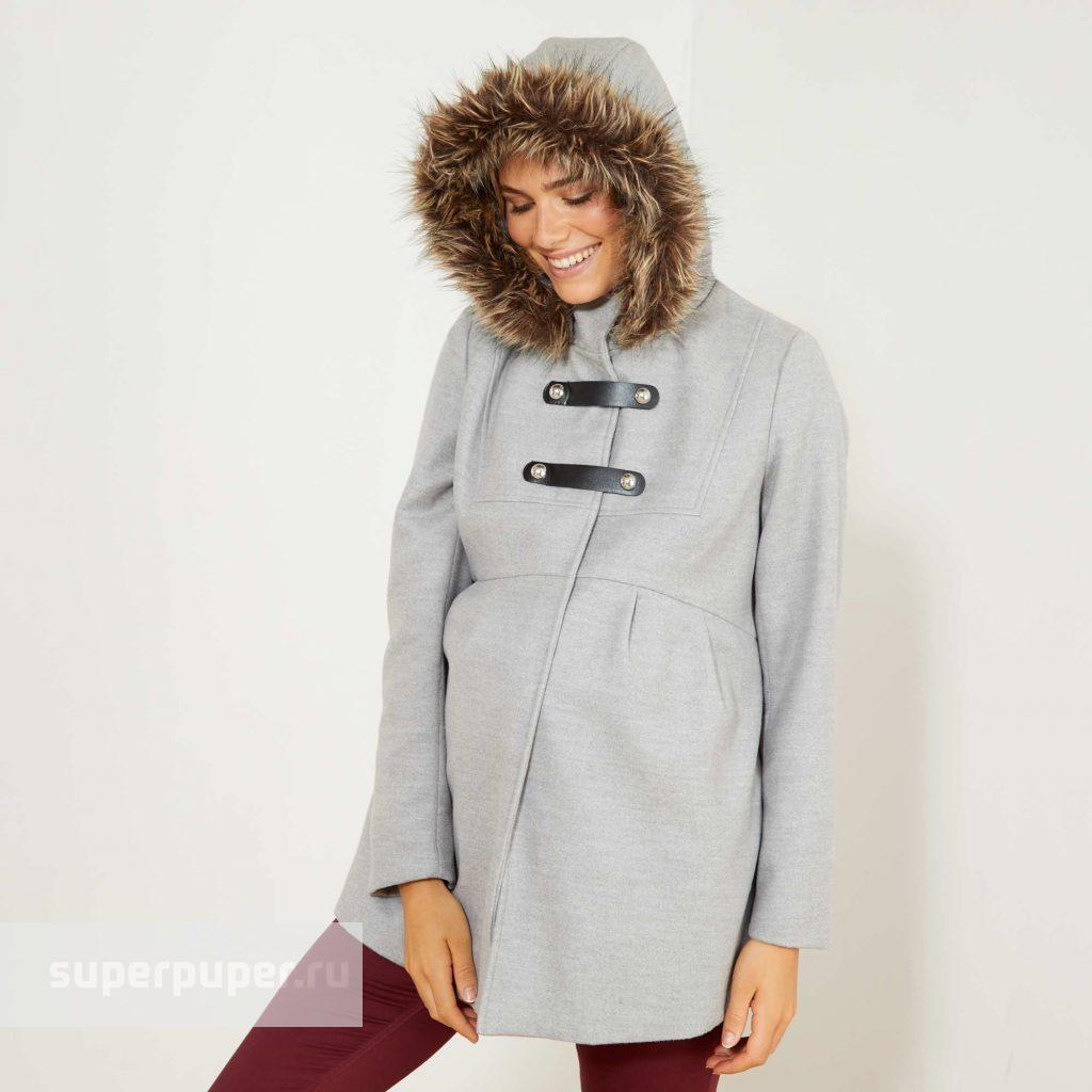 22e257d84f9d474 Kiabi Взрослым 14 • Короткое пальто для беременных - серый WG684 ...