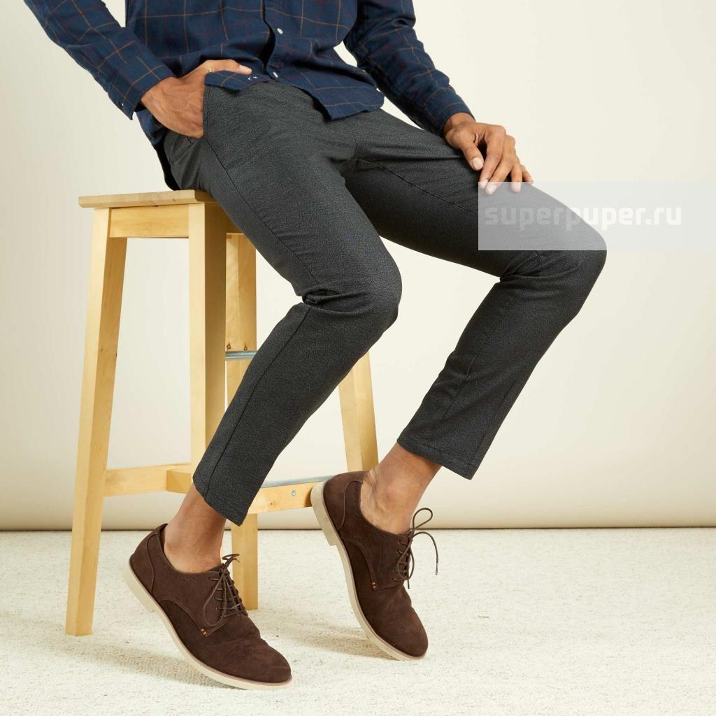 4d000adb91d Kiabi Взрослым 56 • Узкие брюки-чинос из хлопка - серый VM578 ...