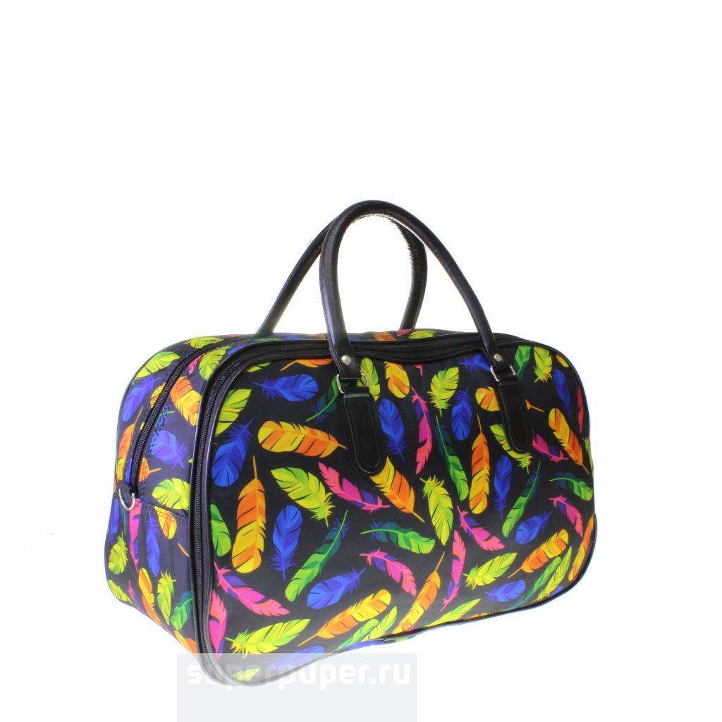 981959824f8a Вместительная дорожная сумка Sperous из износостойкой ткани с оригинальным  принтом 717-1