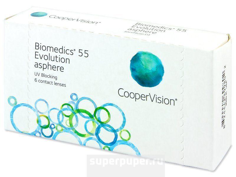 Линзы 295 • CooperVision Biomedics 55 Evolution (6pk) Асферика ... 5fd3ad3580c