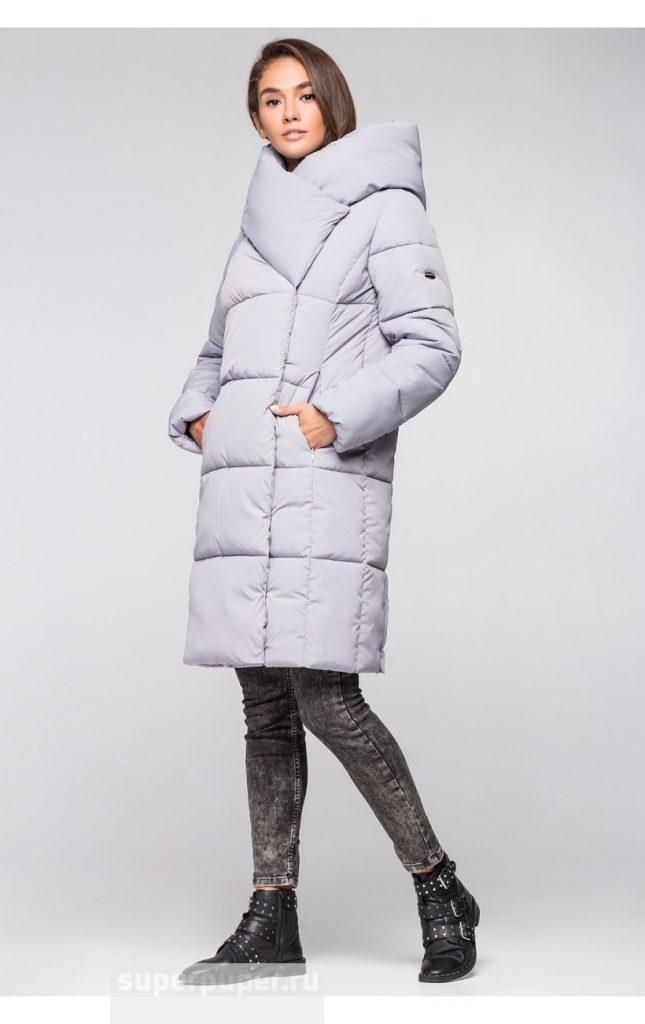 51effaa5e163 Выкуп состоялся: Зимняя женская куртка укороченная KTL-316 (600 серый)
