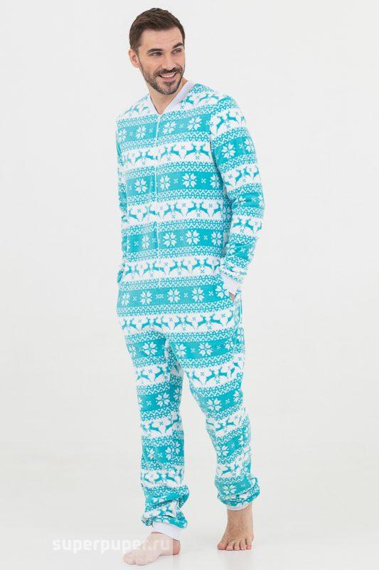 b3093683228f1 Пижамки 6 • Пижама-комбинезон Скандинавские узоры с молнией ...
